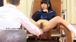 【JK健康診断】性能力の調査として膣を計測される女子校生たち