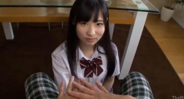 【制服JK】ちんぽ大しゅき思春期JK 登校前に我慢できずにちんぽで遊ぶ 主観フェラチオ 栄川乃亜